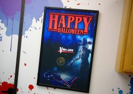 Halloween backlit signs