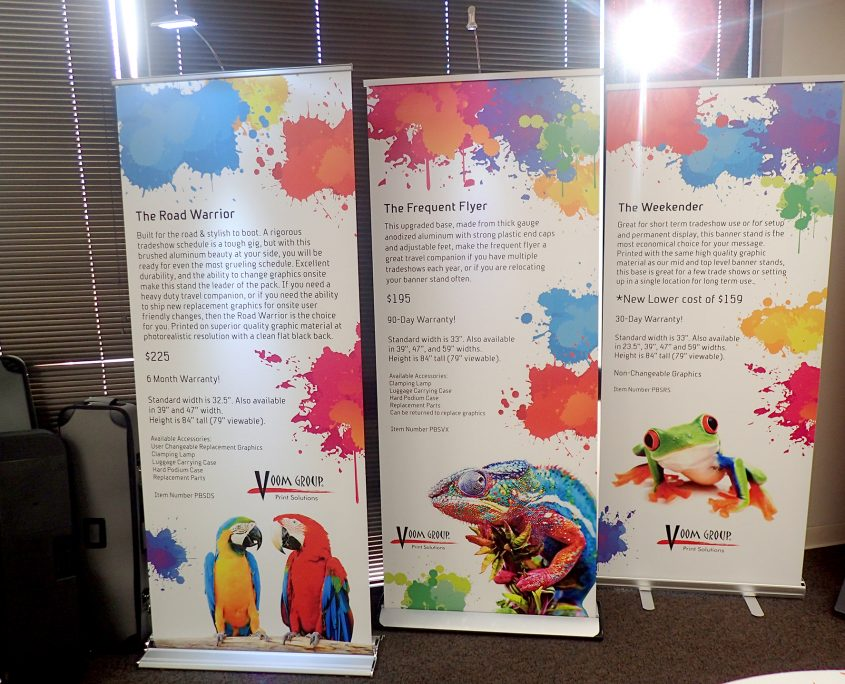 unique printing services - banner stands