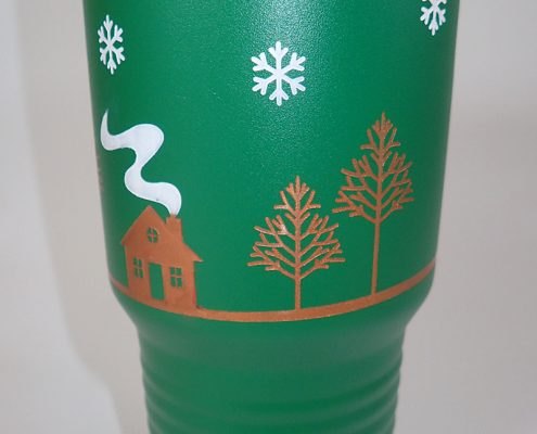 christmas color tumblers